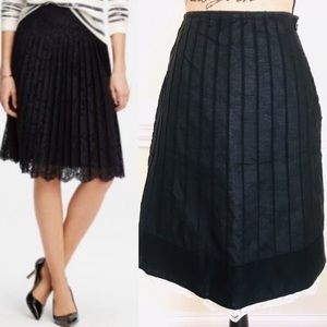 Ann Taylor Petites Pin Tuck Lace Trimmed Skirt